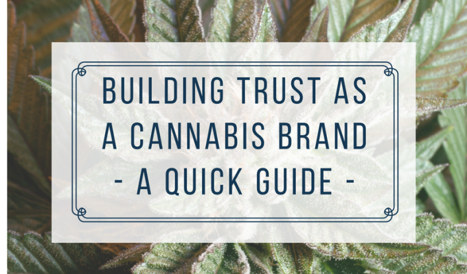 How To Build Trust and Credibility As a Cannabis Brand